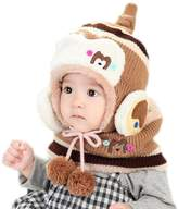 Changeshopping Cute Winter Baby Kids Girls Boys Warm Woolen Coif Hood Scarf Caps Hats