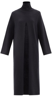Joseph Viviane Slit-front Wool Sweater Dress - Navy