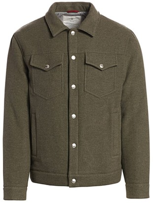 Brunello Cucinelli Cashmere & Wool Trucker Jacket