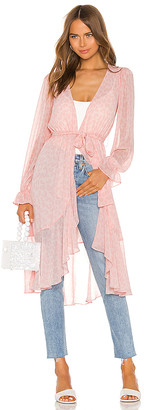LPA Ruffle Duster With Peasant Sleeve