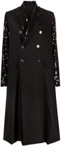 Thumbnail for your product : Junya Watanabe Sequin Embellished Double Breasted Coat