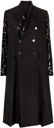 Junya Watanabe Sequin Embellished Double Breasted Coat
