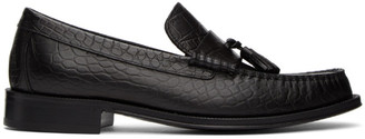 Paul Smith Black Croc-Embossed Lewin Loafers