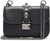 Valentino Small Noir Lock Flap Bag