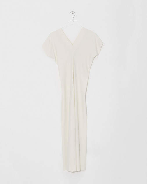 Helmut Lang V-Neck Satin Dress