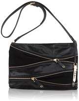 Felicity Zipper-Detailed Leather Clutch