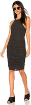 Lanston Ruched Halter Dress in Black