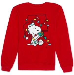 Peanuts Juniors' Snoopy Holiday Lights Graphic Sweatshirt