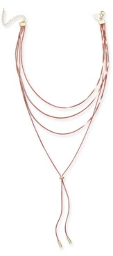 "Thalia Sodi Two-Tone Multi-Chain Lariat Necklace, 16"",18"",20""+3"" extender Created for Macy's"