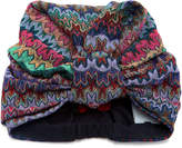 Missoni Metallic Crochet-Knit Headwrap