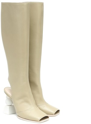 Jacquemus Les Bottes Olive knee-high leather boots