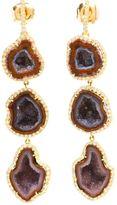 Kimberly Mcdonald 18kt gold, diamond and geode earrings