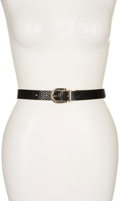 Linea Pelle Snakeskin Embossed Reversible Belt