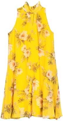 Taylor Floral Keyhole Sleeveless Chiffon Shift Dress