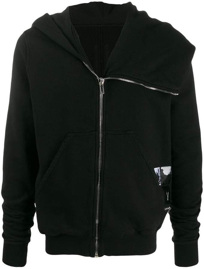 Rick Owens asymmetric hoodie