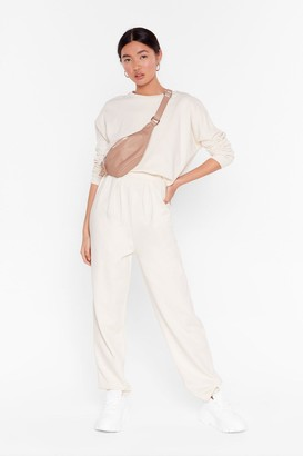 Nasty Gal Womens Work Together Jumper and Pleated Joggers Set - Cream - 6