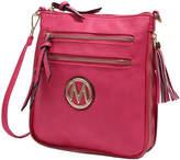 Mkf Collection By Mia K. MKF Collection by Mia K. Women's Handbags - Fucshia Expandable Tassel-Accent Crossbody Bag