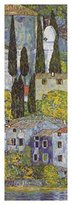 Gustav 1art1 Posters Klimt Poster Art Print - Church In Cassone At The Lake Grda (Detail) (39 x 14 inches)