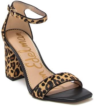 Sam Edelman Daniella Genuine Calf Hair Ankle Strap Sandal