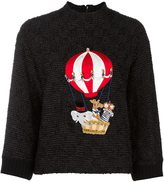 Dolce & Gabbana air balloon patch jumper - women - Cotton/Polyamide/Polyester/Wool - 38