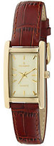 Peugeot Women's Goldtone Brown Leather Watch