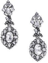 ABS by Allen Schwartz Hematite-Tone Multi-Crystal Drop Earrings