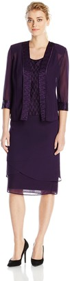 Le Bos Women's Three-Piece Jacket Shell and Skirt Set