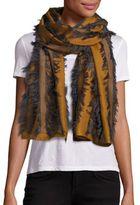 Chloé Cotton, Wool & Silk Fil Coupe Striped Scarf