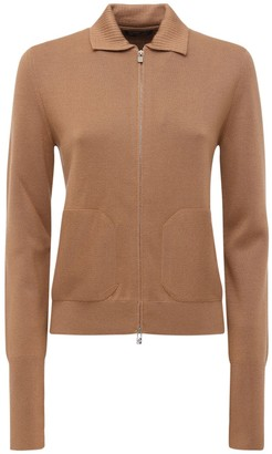 Loro Piana Cashmere & Silk Knit Zip-up Jacket