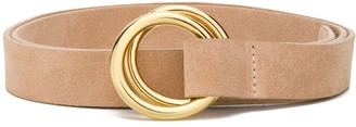 B-Low the Belt Ring-Buckled Suede Belt