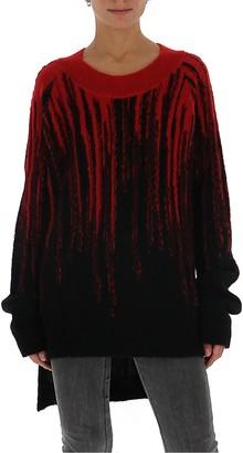 Ann Demeulemeester Asymmetric Hem Knitted Sweater
