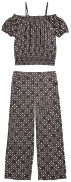 Epic Threads Big Girls 2-Pc. Mosaic Top & Culottes Set, Created for Macy's