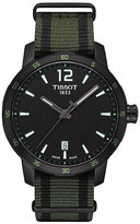 Tissot Quickster men's ion-plated black strap watch
