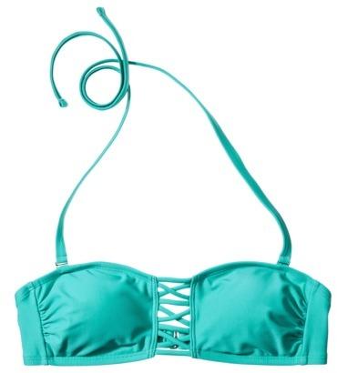 Xhilaration Junior's Bandeau Swim Top -Teal
