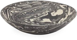 Mariposa Marble Ceramic Serving Bowl