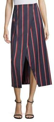 4d4efb8a7954b7 SOLACE London Apolline Striped Midi Skirt