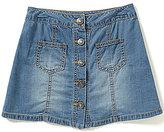 Takara Big Girls 7-16 Button-Front Denim A-Line Skirt