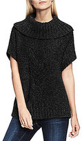 Vince Camuto Two By Front Cable Stitch Turtleneck Sweater