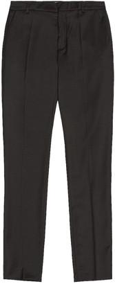 Balmain Tailoring Fit Wool Pant in Noir   FWRD