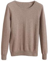 Viottis Women's Crewneck Cashmere Wool Long Sleeve Pullover Sweater L
