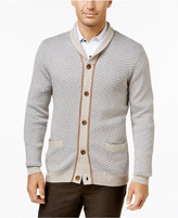 Tasso Elba Men's Big and Tall Shawl-Collar Texture Cardigan, Only at Macy's