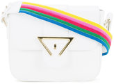 Sara Battaglia striped strap shoulder bag - women - Calf Leather - One Size