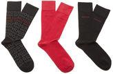 Boss Hugo Boss 3 Pack Socks Black/red