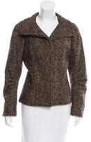 Oscar de la Renta Pointed Collar Tweed Jacket