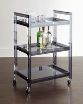 Interlude Cleo Noire Acrylic Bar Cart