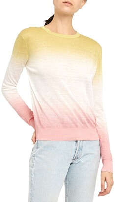 Theory Dual Ombre Linen Blend Sweater
