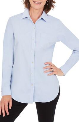 Foxcroft Non-Iron Boyfriend Button-Up Shirt
