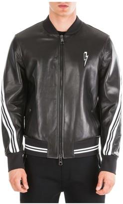 Neil Barrett Rap-nox Leather Jackets