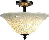 Dale Tiffany Dale TiffanyTM Jeweled White Mosaic Semi Flush Mount