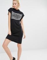 Cheap Monday Stripe Logo T-Shirt Dress